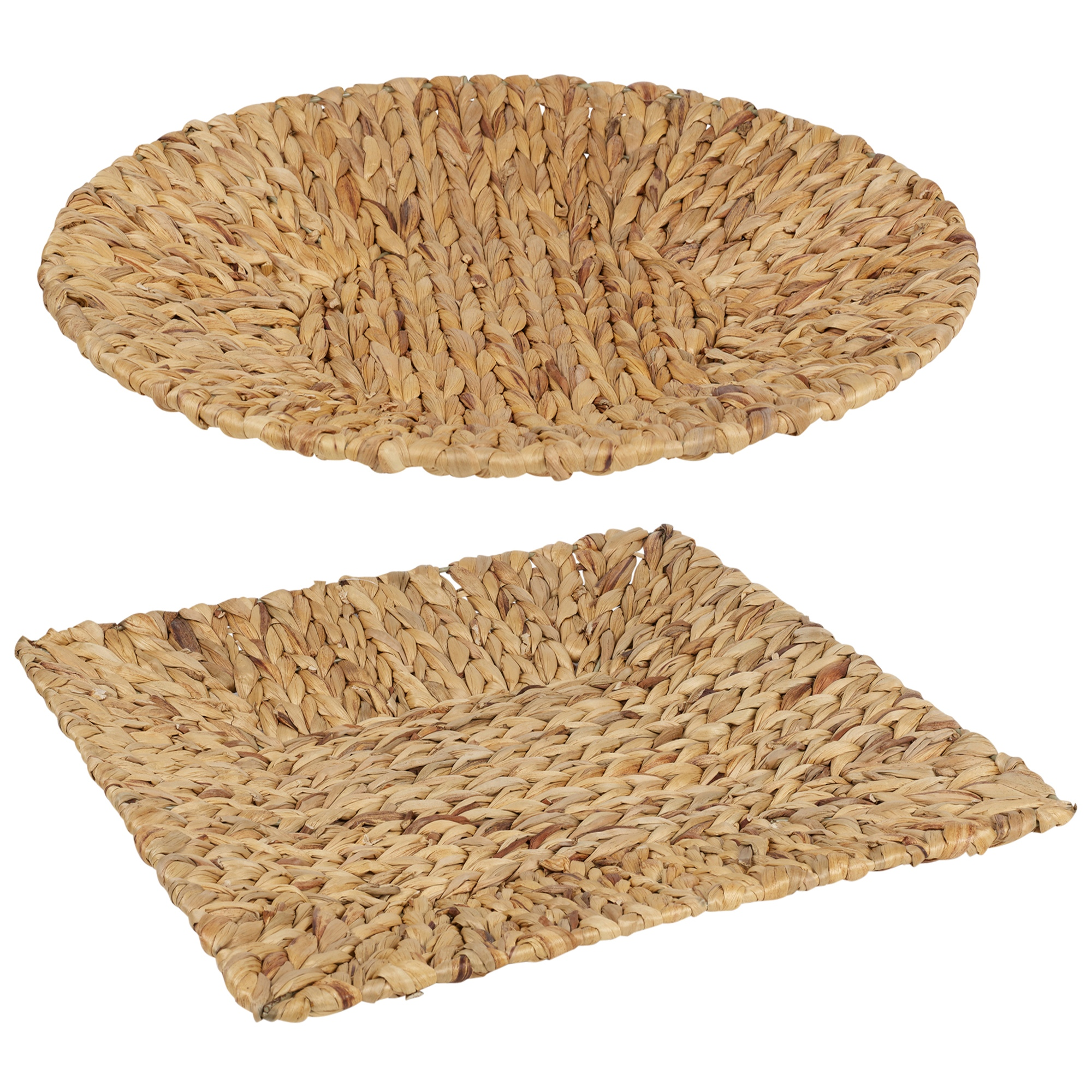 Natural Organic Handmade Water Hyacinth Woven Trivet Hot Food Tray Square Round Ebay
