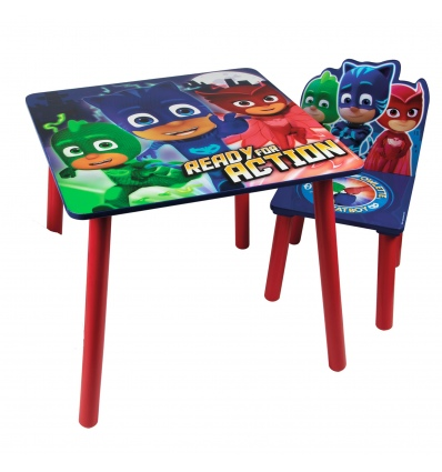 PJ Masks - Wooden Table with 1 Chair