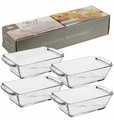 Bowl Tempered Glass set Of 4 (814989)