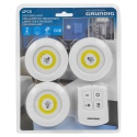 Grundig 3 PCS COB Push Light with Control [131917]