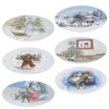 33cm Charger Plate With Colourful Print 6 Pack [694881]