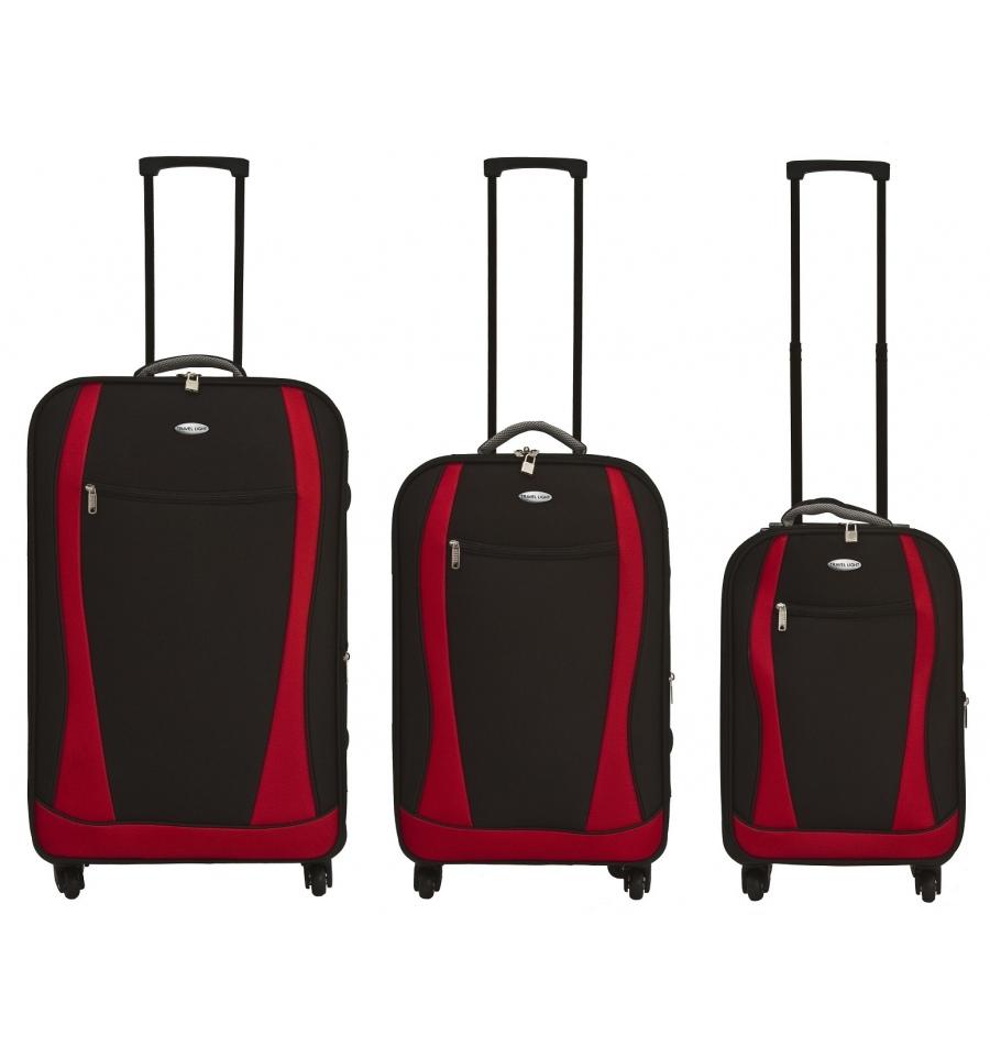 bb84850fe 3 Travelight EVA 4 Wheel Spinner Suitcase Set