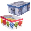 3 Collapsible Storage Boxes With Handles 37x31x16 cm