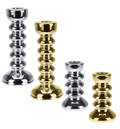 Metal Look Candle Holder