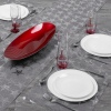 Grey Table Runner & Placemat Set Star Design [766387]