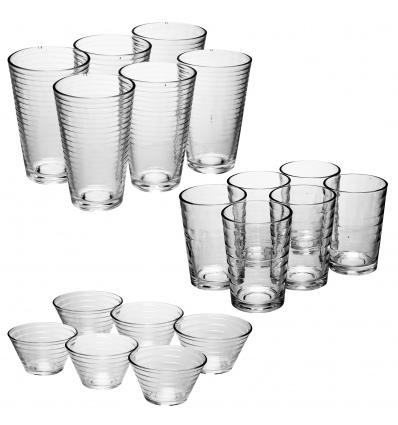 URBN-LIVING London 18 Piece Drinkware and Dessert Bowl Set