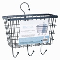 Metal Door Hanger Basket with 3 Hooks [145797]