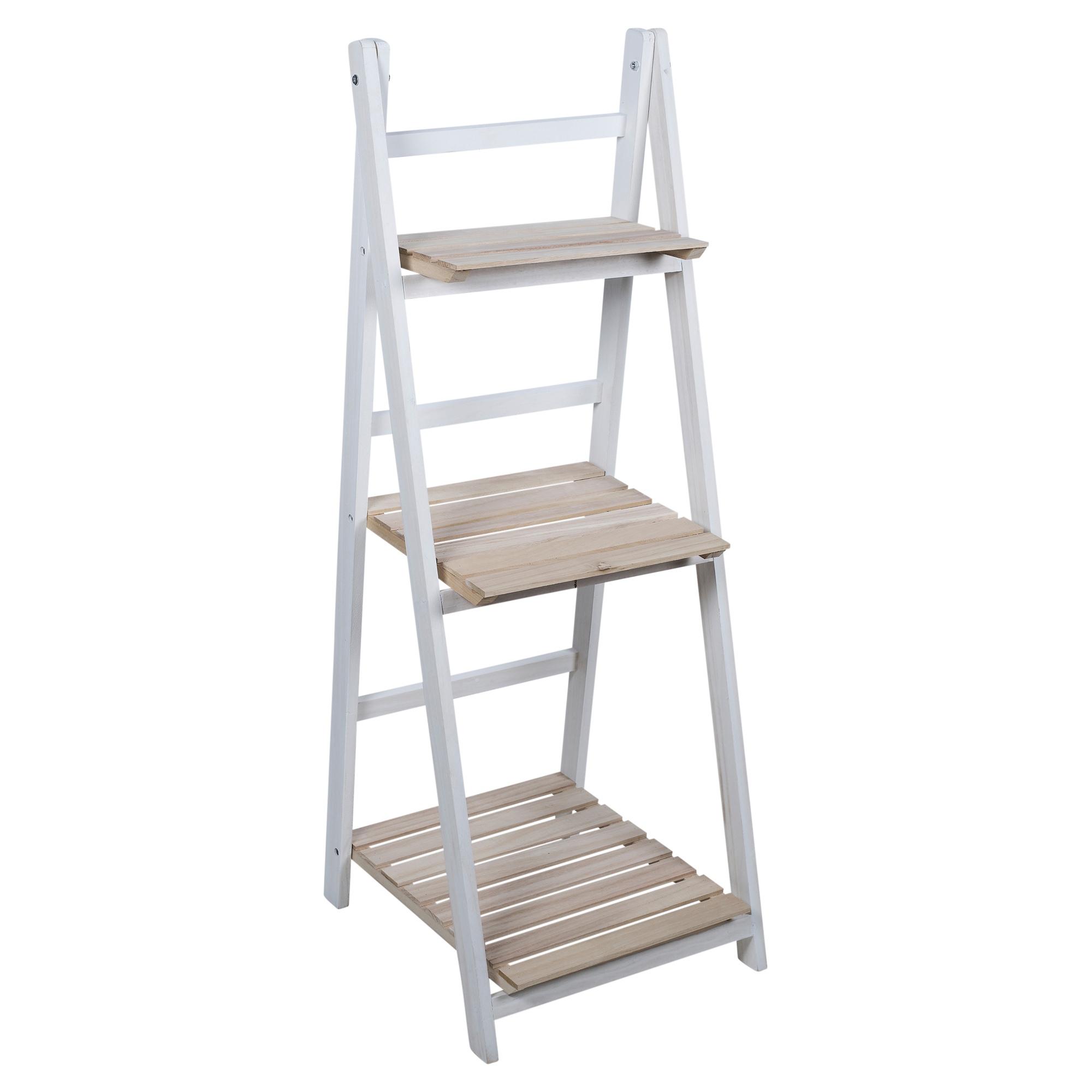3 Tier Wooden Ladder Storage Rack Display Stand Shelving Unit Bathroom Bedroom Ebay