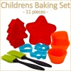 11 Pcs Childrens Baking Set - Black [449555]