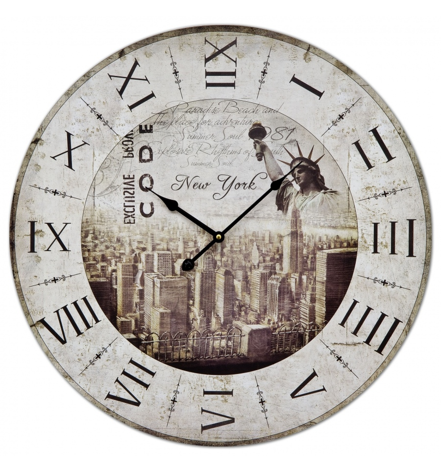 60cm Large Wall Clock New York