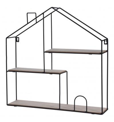 3 Tier Metal Frame Floating Shelf 50 x 50 x 11 cm [967081]