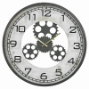 48cm Black Wall Clock with Cogs [427800]