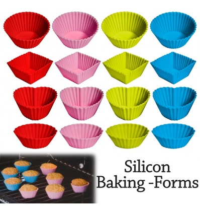 12 pcs Silicone Baking Forms 278292