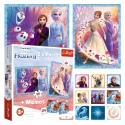 Puzzles - 2in1 + memos - A mysterious land / Disney Frozen 2 [90814]