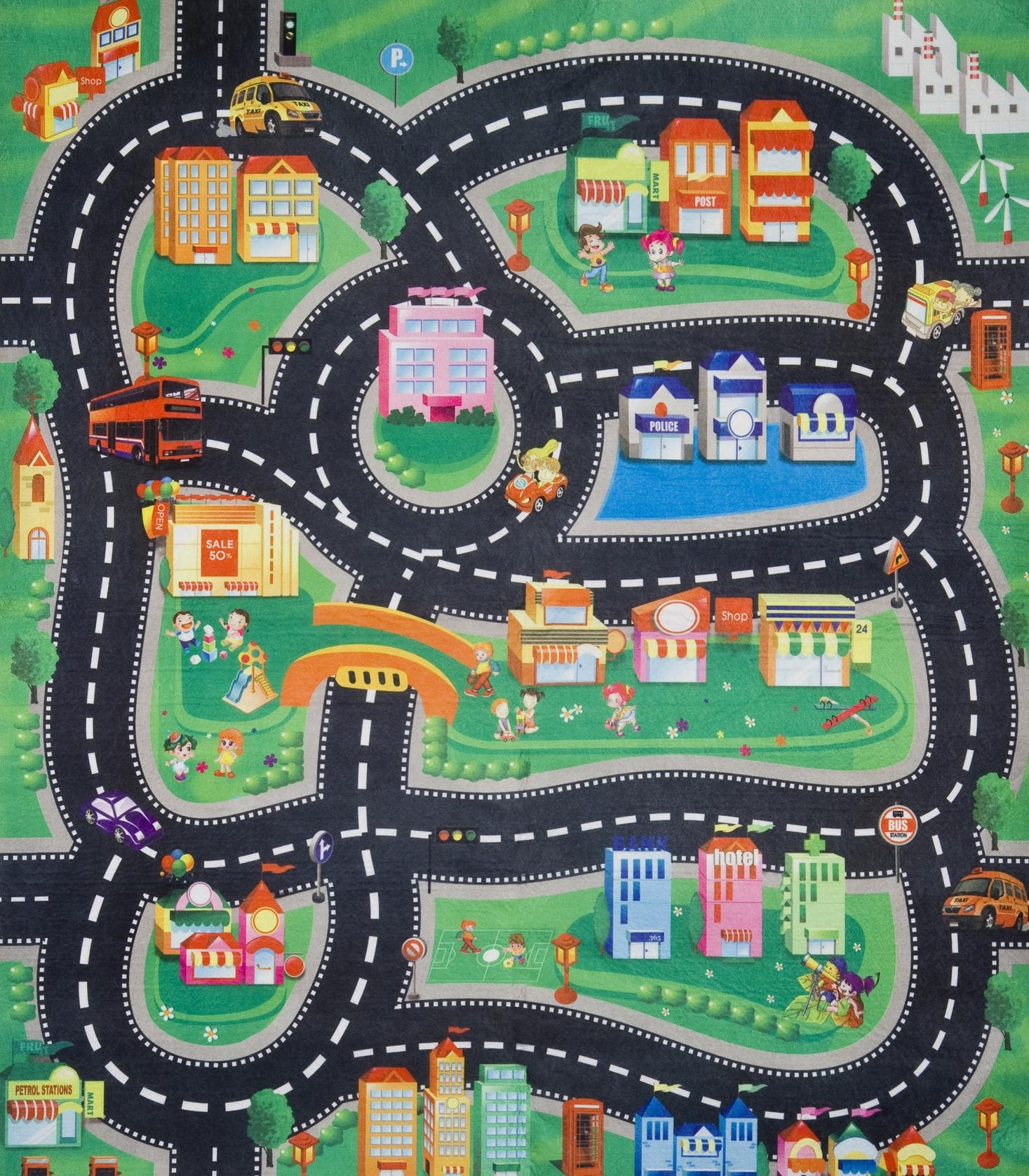 d s cor playmat x room road kids for boy car rug little products town