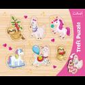 Puzzles - Frame Shaped Puzzles - Unicorns, lammas and sloths / Trefl [31311]