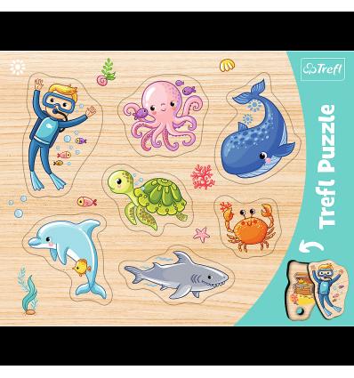 "Puzzles - ""Frame Shaped Puzzles"" - Underwater world / Trefl [31309]"