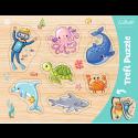 Puzzles - Frame Shaped Puzzles - Underwater world / Trefl [31309]