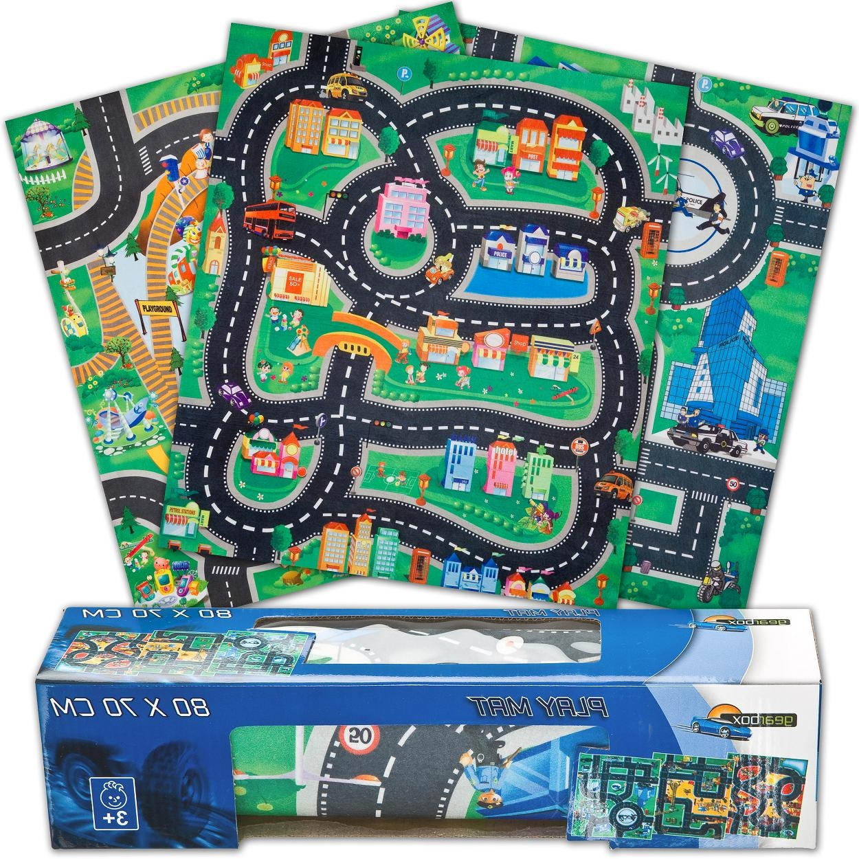 Car Amp Road Police Fire Or Construction Playmat Kids Boys