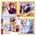 Puzzles - 3in1 - The power of Anna and Elsa / Disney Frozen II [34847]