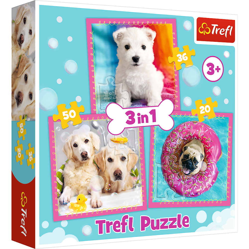 """34845 - Puzzles - """"3in1"""" - Dogs in the bath"""