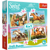 """Puzzles - """"4in1"""" - Afternoon ride / Universal Spirit Riding Free [34334]"""