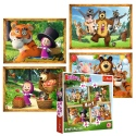Puzzles - 4in1 - Masha's forest adventures / Animaccord Masha and the Bear [34329]