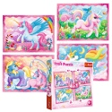 Puzzles - 4in1 - The magical world of unicorns / Trefl [34321]