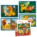 Puzzles - 4in1 - The Lion King and friends / Disney The King Lion [34317]