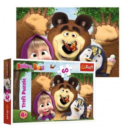 """Puzzles - """"60"""" - Masha's happy day / Animaccord Masha and the Bear [17337]"""