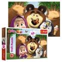 Puzzles - 60 - Masha's happy day / Animaccord Masha and the Bear [17337]