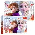 Puzzles - 60 - The enchanted world of Anna and Elsa / Disney Frozen 2 [17333]