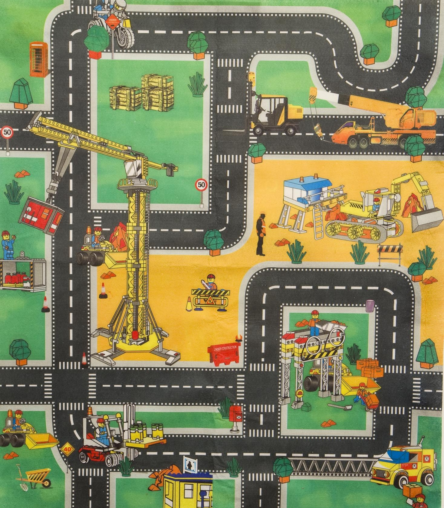 Construction Site Toys For Boys : Car road police fire or construction playmat kids boys
