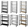 Wood & Steel Folding Ladder Shelf Unit