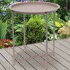 Round Metal Table 46cm