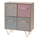 MDF Cabinet with 4 Drawers 255x120x315mm [467819]