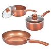 3 PCS Italian Copper Cookware Set