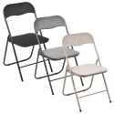 Folding Chairs with Velvet Cushions