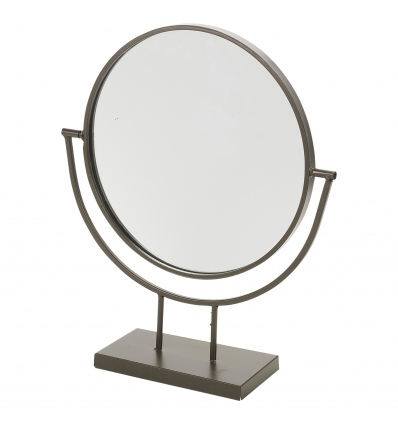 24cm Round Mirror on Metal Base [427855]