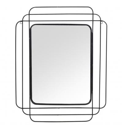 Black Rectangular Wall Mirror [368004]