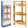 Wooden Bamboo Rack with 3 Shelves [589140]