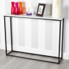Wooden Console Table with Metal Legs