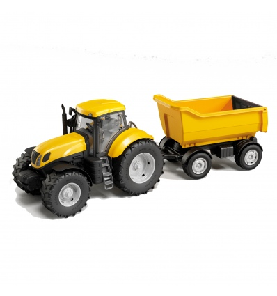 Yellow Tractor With Trailer [1133][113306]