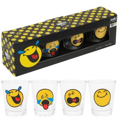 Zak! 4 Smiley Shot Glasses In Gift Box [875060]