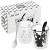 Zak! 2 Melamine 200ml Double Walled Coffee Glasses with 2 Spoons
