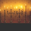 39cm Silver Candle Holders
