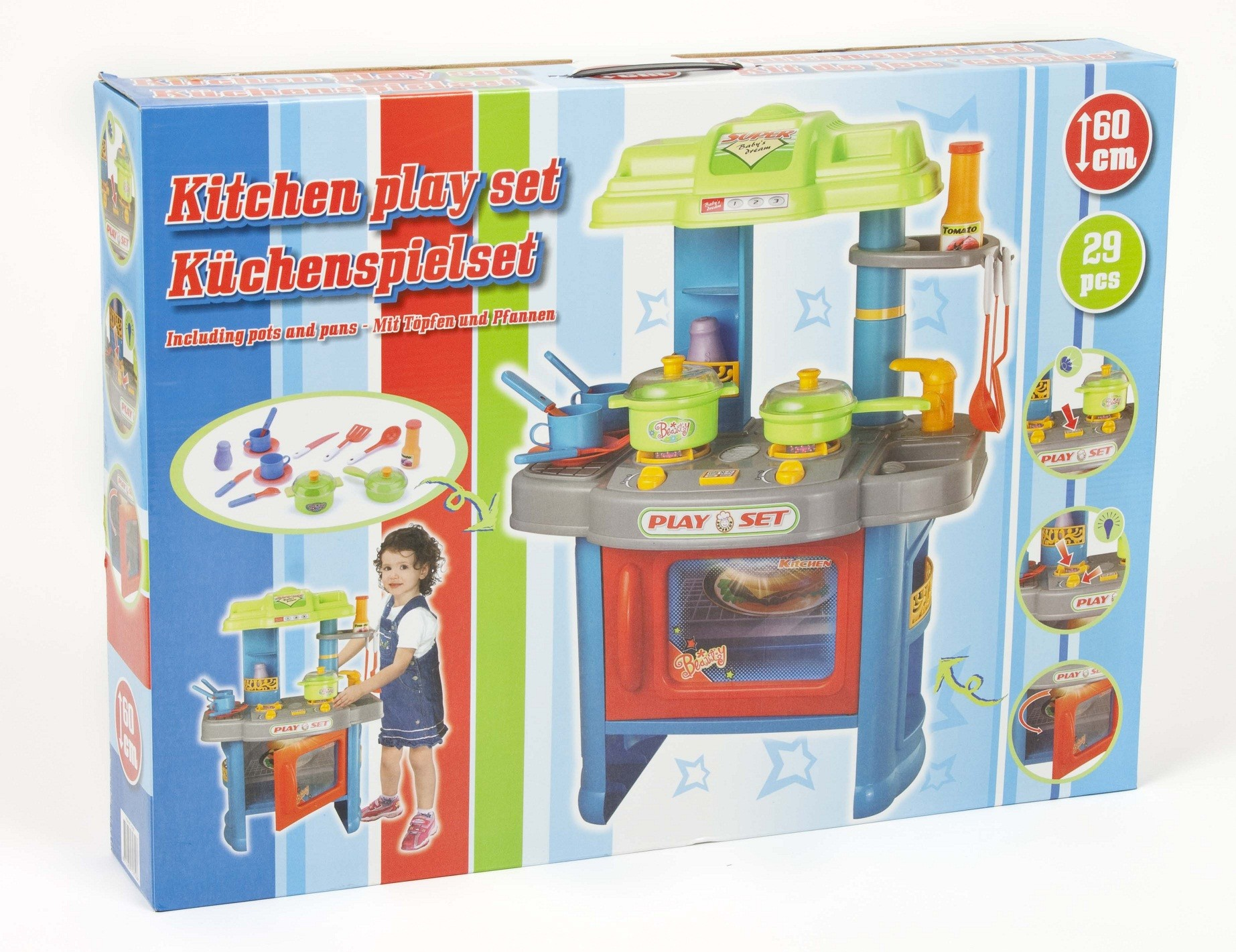 29 piece electronic kitchen cooking children 39 s play set for Kitchen set 008 83