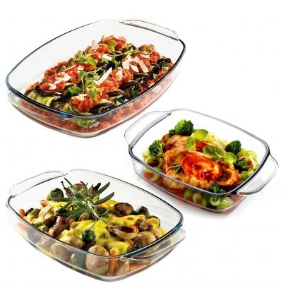 3 PCS Glass Oven Dish Set [208362]