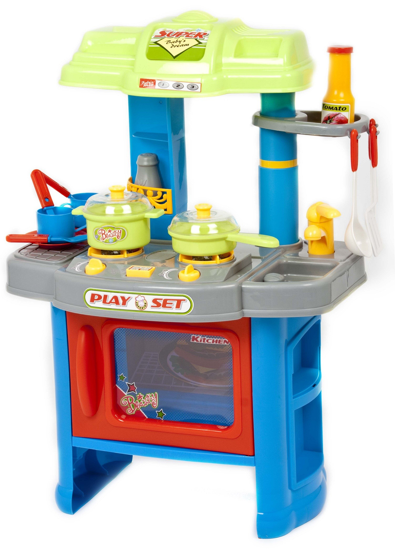 29 piece electronic kitchen cooking children 39 s play set for Kitchen set 008 58