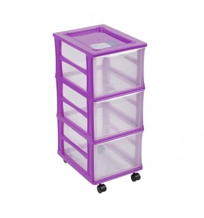 Purple Storage Box on Wheels [331489]]